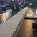 Ice strip running down the length of the bar