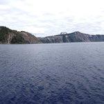 Panaromic shot of crater lake