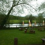 Beer Garden by the River Wylye