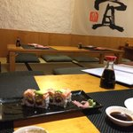 I came here with a japanese friend!!Thank to Chinami, I tried the best sushi ever in Barcelona!!