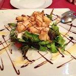 Een lekkere salade vooraf!
