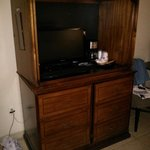 Small tv in old cabinet