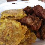 Fried port and plaintain