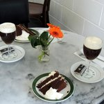 Irish coffee and cake