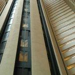 Marriott Marquis huge Atrium with glass Elevators.  Amazing!
