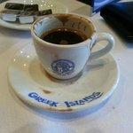 """Greek coffee """"metrios"""""""