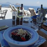 squid pasta with a view
