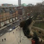 Vista do quarto da Russel Square