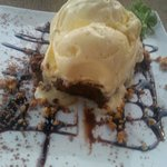 Delicious Brownie and ice cream
