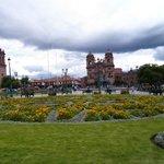 Plaza de Armas em um dia nublado