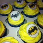 Father's Day Batman cupcakes
