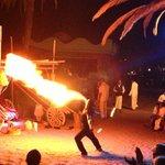 Flaming wedding entertainment!