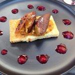 Foie frais et abricots