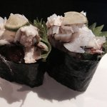 Stone crab in a roll