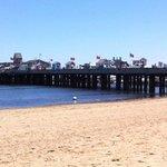 MacMillan Wharf from the beach