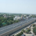 The Sarkhej Gandinagar Highway-- View from passage/corridor