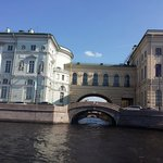 Hermitage view from waterway tour