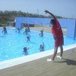 Animação na piscina
