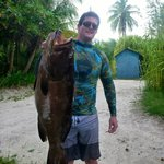 My Buddy Sam w/ a Reel Tight Black Grouper