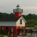 The lighthouse next door, as seen from the top deck.