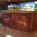 Registration Desk in hotel lobby