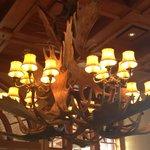 Chandlier in lobby