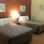 double queen bed in room