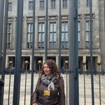 Our guide Ashleigh outside the building that used to house the Luftwaffe