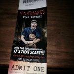 Ticket to enter
