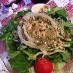 House salad homemade Italian dressing is a must