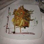 Parmigiana e verdurine fritte