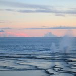 Blowhole at sunset that you can see from Rosi