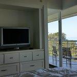 large window to balcony