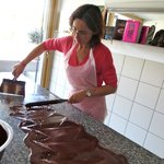 Karen's chocolate making workshop.