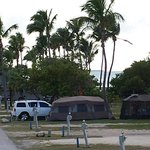 Great camping by beach area