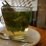 Fresh mint tea, very soothing!
