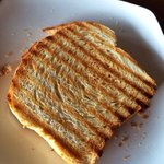Nicely grilled toast with lots of hearts!