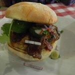 $6 flat iron burger