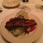 Wedge Salad with Bacon.  Yes that is Bacon!