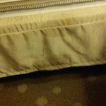 Bedroom bed ruffle- dirty