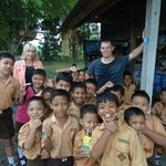 Meeting the local kids