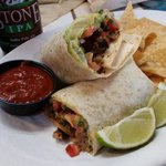 Baja grill steak burrito