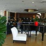 Vista do lobby do hotel