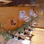 winetasting set up
