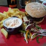 Haggis burger (basically a beef patty plus a haggis patty)!! Well worth a try :)