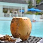 coconut water and jerk chicken!!!!!
