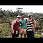With Ketut in the fields