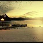 Where the mountains and lake meet