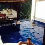 In villa plunge pool & bale
