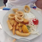 Taverna dish calamari off the a la carte